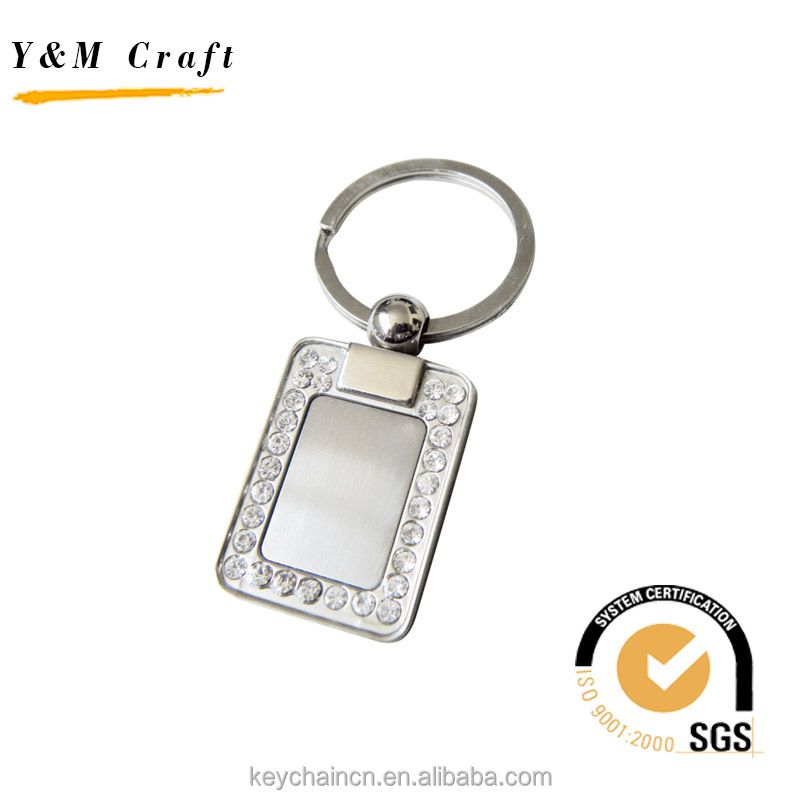 Souvenir Gift Custom Car Logo Crystal Metal keychain Maker