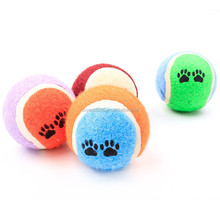 Pet Dog Toys Colorful Tennis Ball Puppy Trainning Toy for Small Medium Large Dog