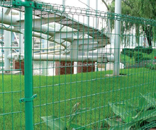 Green Curve fence/ triangle bending wire mesh fence/welded wire mesh