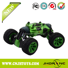 Hyper fun toy double sided rolling rc stunt car with two walking mathods cheap price