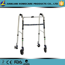 Aluminium four wheels walker,adjustable walker,disability walking aids