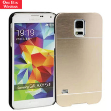 New Products Brushed Hard Cover Aluminum Skin Case for Samsung Galaxy S5 Mobile Phone