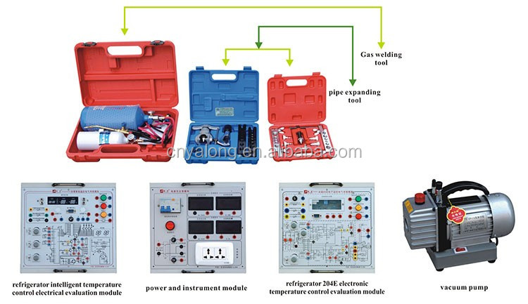 Refrigeration & Air Conditioning System Trainer , Laboratory Training Unit , Thermodynamics Education Kit , Vocational Skill Lab