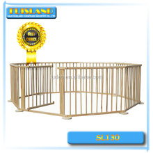 8 sides baby portable wooden playpen for european standard