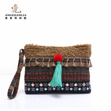 2017 Newest <strong>Fashion</strong> Women's Ethnic Handmade Embroidery Clutch Purses