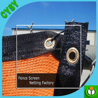 Outside used anti uv protection shade sail,sand color plastic shade mesh,yard fencing mesh suns screen fabric