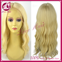 Newly blonde full lace wig Brazilian hair human lace wig body wave T color 613 highlight 100% unprocessed full lace human wigs