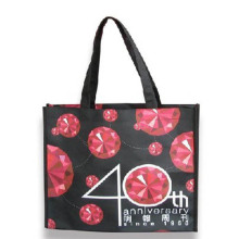 Customized full color reusable custom pp non woven shopping bag