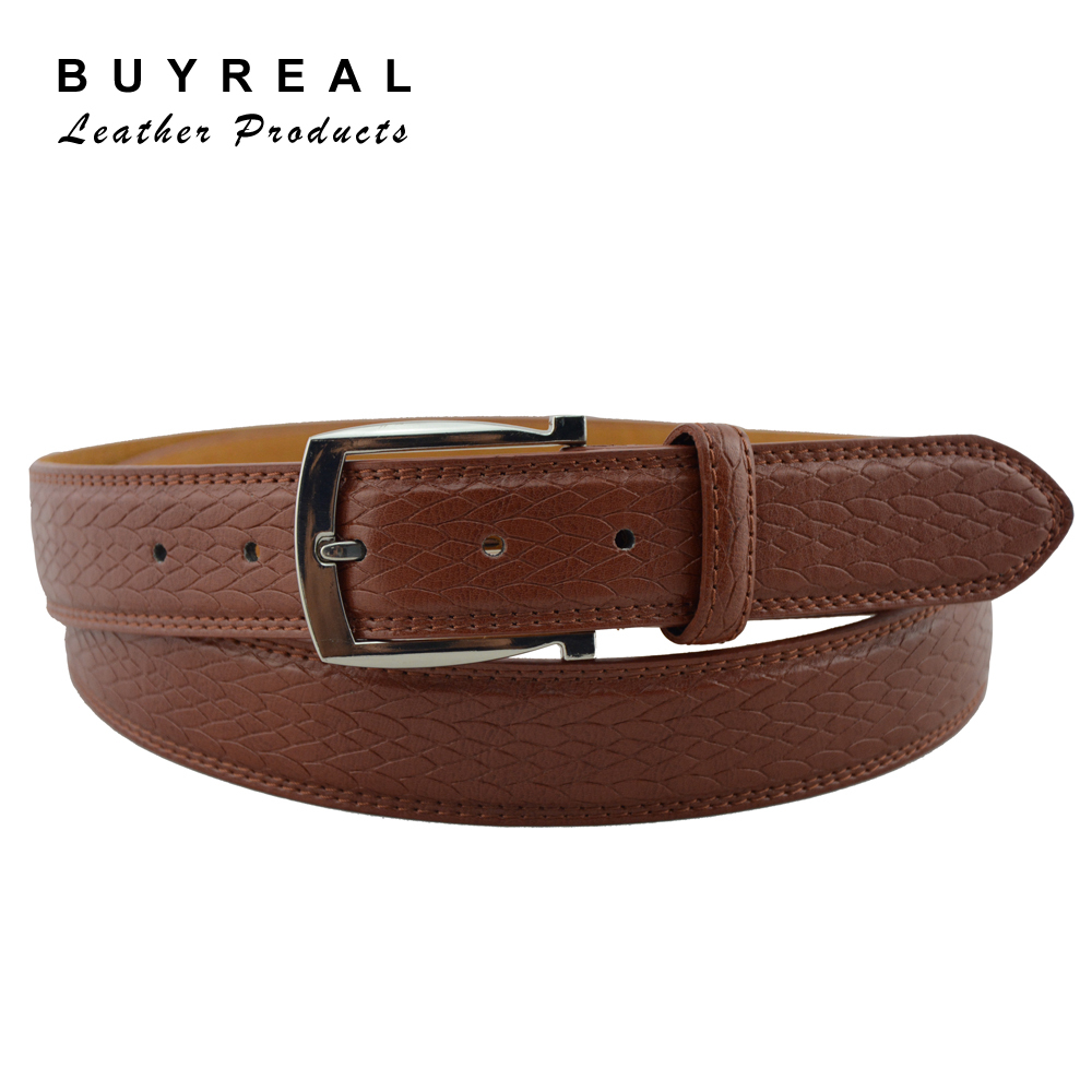 Stainless Steel PU Reversible Smart Buckle Plain Belt for Man