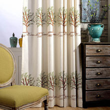 Cotton jacquard fabric sunscreen custom curtains
