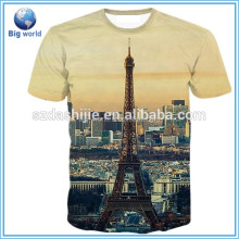 full printing custom t-shirts no minimum/100% cotton t-shirts/Reactive printing T-shirts