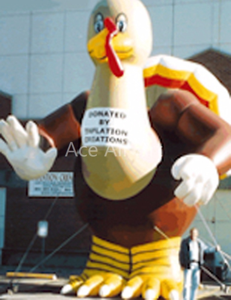Cheapest Oxfor fabric for thanksgiving promotion giant inflatable turkey