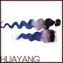 Unprocessed Virgin Brazilian Hair Tangle Free fusion extension ombre color hair extensions