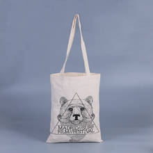 Calico shoulder shopper eco organic canvas tote promotional cotton bag