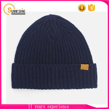Wholesale Color Custom Beanie With Woven Label New Pattern Knit Beanie