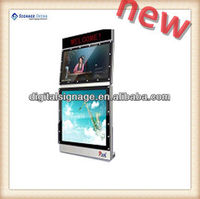 support wi-fi wall mounted lcd digital signage