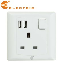2.1A electric 13A switched usb plug socket power outlet with usb