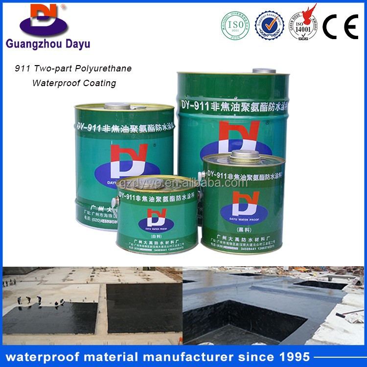 China Hot Sale Basement Waterproofing Materials One/Two Component Polyurethane Roof Waterproof Coating