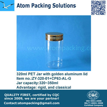Diameter 67mm 320ml PET jar with Aluminum lid