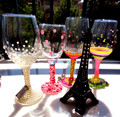 Tall glass of red wine glasses, luxury lane frigidite glass