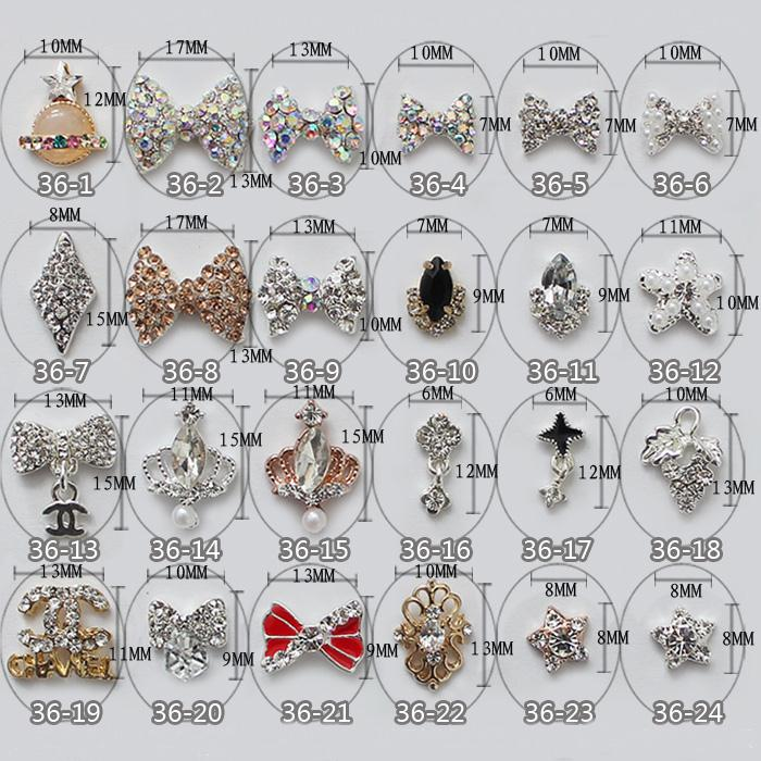 China Professional Nail Supplies fashion styles nail charms