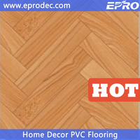 Easy Installation marbling pattern commercial use uv coating vinyl pvc flooring