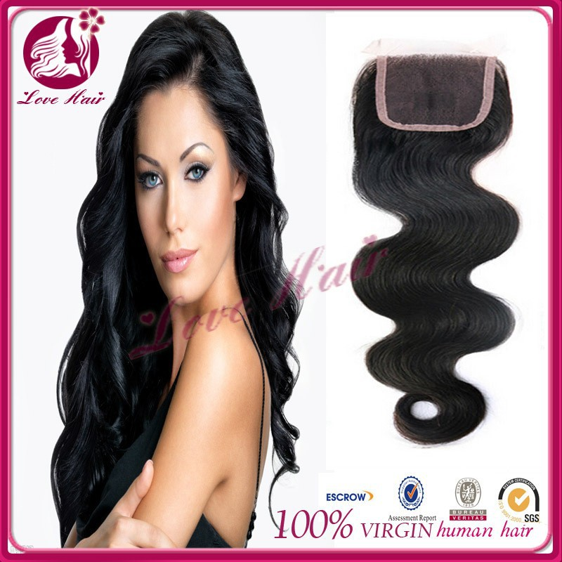 exciting sales brazilian hair closure clip in extension middle parting lace closure lace closure hair density 130%
