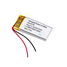 Hot selling 3.7V 130mah lithium polymer battery 401430 lipo battery for GPS and smart device