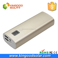 Custom LCD screen fast charging power bank 10400mah portable charger for mobile phone