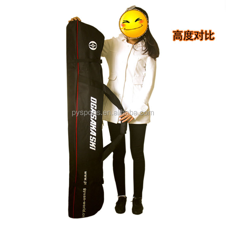 OEM ski bag winter sports for adults men's women's with black in oxford fabric for 150/170/190cm made in China <strong>manufacturer</strong>