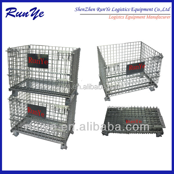 Lockable security wire mesh container