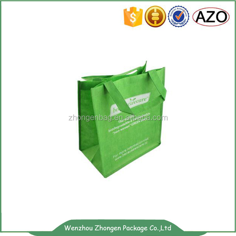 Advertisement non woven shopping bag with printing