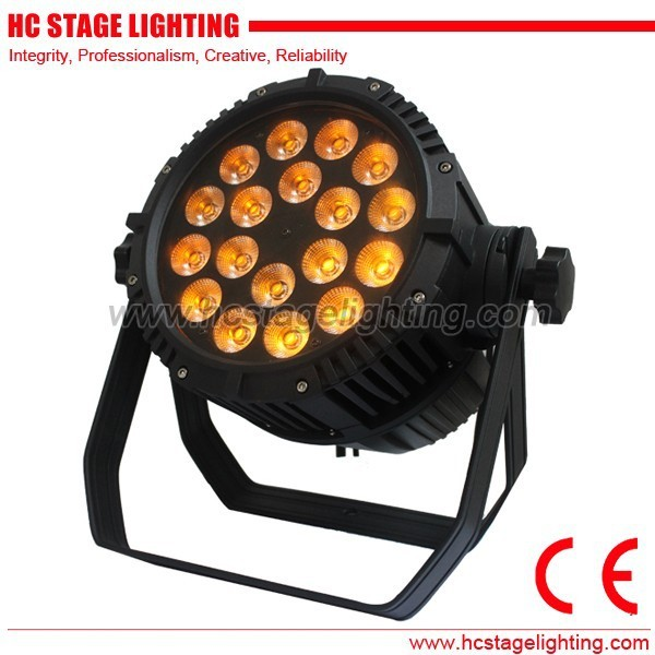 2016 new product 18pcs*12w 6in1 rgbwa+UV waterproof led par can