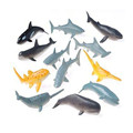 ICTI certificated custom made mini plastic shark & whale toy figures