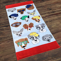 Hot Sale Quick-Dry Wholesale Custom 100% Cotton Sex Animal And Woman Beach Towel