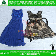 Factory Price Recycling Used Silk Dress Clothing Second Hand Used Clothing And Shoes