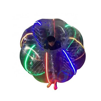 LED Lighting 1.5m PVC Inflatable Human Ball Body Bubble Soccer Balls Adults Size Zorbing Bumperball For Sale