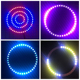 RGB halo ring angel eyes led light for car headlight with bluetooth controller