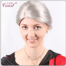 Cheap Old Ladys Sliver White Wigs