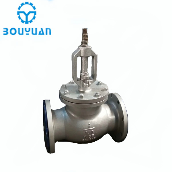 Wenzhou manufacturer class 600 stainless steel PTFE globe valve