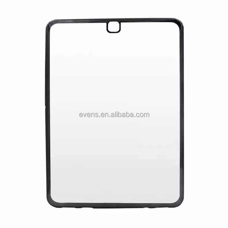 Thin Clear Crystal Rubber Plating Electroplating TPU Soft Mobile Phone Case For iPad air 2 Cover bag