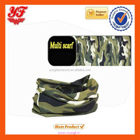 2015 Fantastic green military print multifunctional tube scarf, tube bandana
