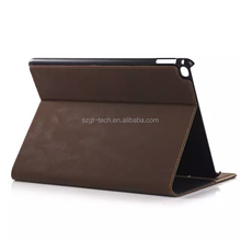 for ipad air 2 smart cover Slim stand Luxury design leather stand case with card slot