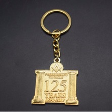 Masonic Key Chain Custom logo Key Ring Masonic Metal Die Struck Keyring