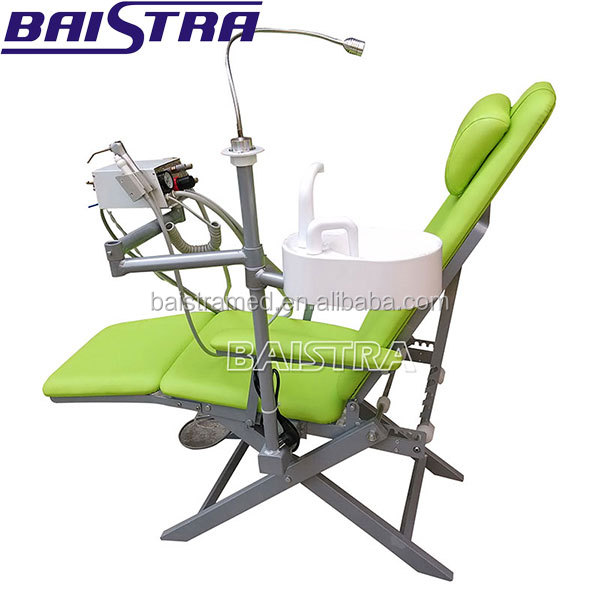 Top quality Folding portable dental chair unit with Turbine
