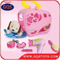 NEW ARRIVAL CUTE PET TOY PET HOUSE ANIMAL CARRIER SET TOY WITH ACCESSORIES
