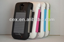 For Samsung Galaxy S4 i9500 EnerPlex 2500mah Solar Battery Charger Flip Case Cover