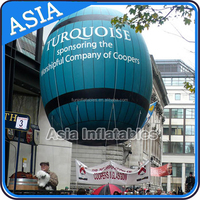 3m long inflatable balloon free shipping/helium balloons with Letter Logo for event,CE/UL certificate