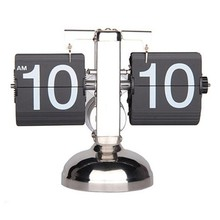 Balance Shaped Metal Auto Flip Down Clock Desktop Decorative Clock