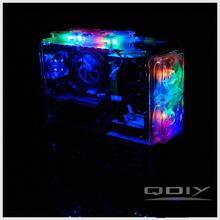 OEM PC-A006M Micro ATX Vertical Transparent Unique Acrylic Computer Case